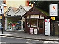 TQ3194 : Florist and barber's shop on Station Road, Winchmore Hill by Paul Bryan