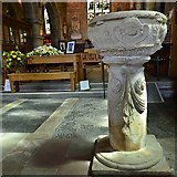 SO7137 : Ledbury, St. Michael and All Angels Church: The c17th font by Michael Garlick