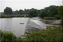 SE2320 : Weir on the River Calder, Dewsbury by Ian S