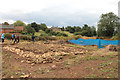 SK8329 : Croxton Kerrial 12thC Medieval Manor House: excavations (3) by Kate Jewell