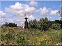 TM4599 : St Olaves drainage mill by Evelyn Simak
