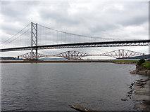 NT1278 : The Forth Bridges seen from Port Edgar marina by Gareth James