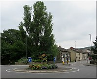 SK0394 : Roundabout on the A57, Glossop by Philip Platt