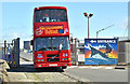 J3575 : Ho-Ho bus, Titanic Quarter, Belfast (July 2017) by Albert Bridge