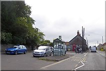 ST4636 : Bus shelter outside Walton Church by David Smith