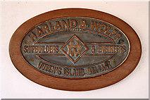 J3575 : Maker's Plate, SS Nomadic by David Dixon