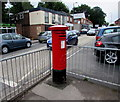 SU4320 : King George VI pillarbox, Bournemouth Road, Chandler's Ford  by Jaggery