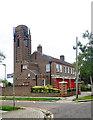 TQ2192 : Mill Hill fire station, Hartley Avenue by Julian Osley