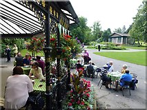 SE2955 : Cafe in The Valley Gardens, Harrogate by Richard Humphrey