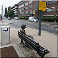 SU4519 : Yonge statue on a bench outside Eastleigh railway station by Jaggery