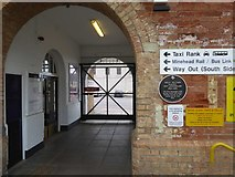 ST2225 : Plaque on Taunton Station by David Smith