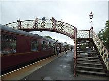 NY6820 : Appleby station footbridge by Stephen Craven