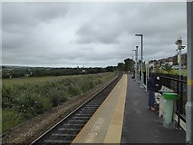 SX9690 : Newcourt railway station, looking south by David Smith