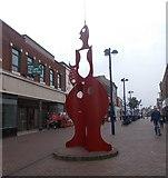 NZ6025 : Sculpture - High Street by Betty Longbottom