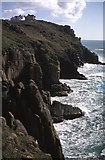 SW3425 : Cliffs at Land's End by Philip Halling