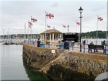 SW8132 : Custom House Quay, Falmouth by David Dixon