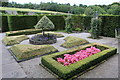 SH5573 : Parterre box garden at Plas Cadnant by Richard Hoare