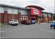 SO8555 : Office Outlet in Shrub Hill Retail Park, Worcester by Jaggery