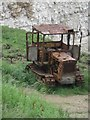 TA2371 : Rusting tractor, North Landing by Graham Robson