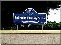 H6257 : Sign, Richmond Primary School by Kenneth  Allen