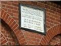 SK4641 : Baptist Chapel, Queen's Drive, Ilkeston, datestone by Alan Murray-Rust