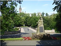 NS5766 : Highland Light Infantry Boer War memorial by David Smith