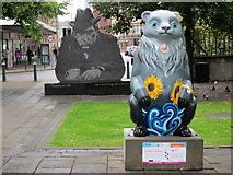SP0787 : Birmingham Big Sleuth Vincent the Bipolar Bear & Tony Hancock Statue by Roy Hughes