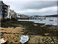 SW8032 : Falmouth Harbour, Beach at Fish Strand Quay by David Dixon