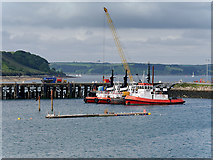 SW8132 : Tugboats at Falmouth Harbour by David Dixon
