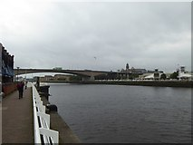 NS5764 : Clyde Walkway, the river and Kingston Bridge by David Smith