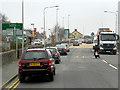 SO1191 : Newtown, Pool Road (A483) by David Dixon