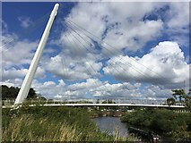 SO8453 : Footbridge over the River Severn by Alan Hughes