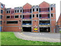 SO8554 : East side of St Martin's Gate multistorey car park, Worcester by Jaggery