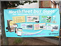TQ6374 : Poster at Northfleet Bus Depot by David Hillas