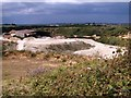 TG2404 : Large shed in the Caistor chalk pit by Evelyn Simak