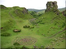 NG4162 : Castle Ewen and some fairy rings and spirals by Elliott Simpson