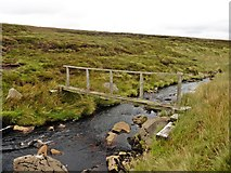 NY8121 : Footbridge on Lune Head Moss by Roger Cornfoot