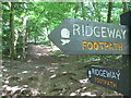 SP9513 : Ridgeway signposts, Aldbury Nowers by Peter S