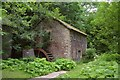 SK1869 : Disused Mill and Waterwheel on the River Wye, Derbyshire by Andrew Tryon