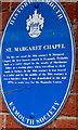 SY0080 : Blue plaque marking the site of the first known church in Exmouth by Jaggery