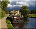 SE2137 : Boat moored along the Leeds and Liverpool Canal by Mat Fascione