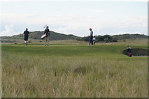 NT4681 : Golfers on Gullane Links by Mike Pennington