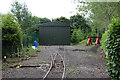 SK2406 : Statfold Barn Railway - new carriage shed by Chris Allen