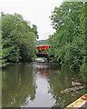 SK3448 : Belper: crossing the Derwent by John Sutton