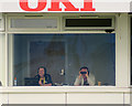 SK3636 : Derby: in the commentary box by John Sutton