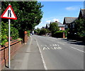 ST1479 : Warning sign - road narrows, Heol Don, Whitchurch, Cardiff by Jaggery