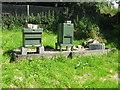NO4011 : Beehives at St John's Lodge by M J Richardson