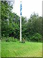 NS1967 : Skelmorlie Bowling Club flagpole by Thomas Nugent
