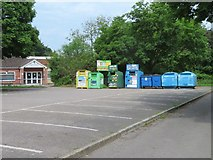 SU6050 : Recycling point - Stratton Park car park by Given Up