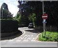 SO2813 : No entry to Church Lane, Llanfoist by Jaggery